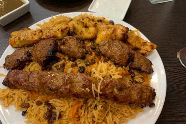 Kabuli Palow with Kabab