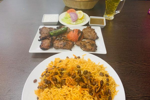 Loin chops with Kabuli Palow